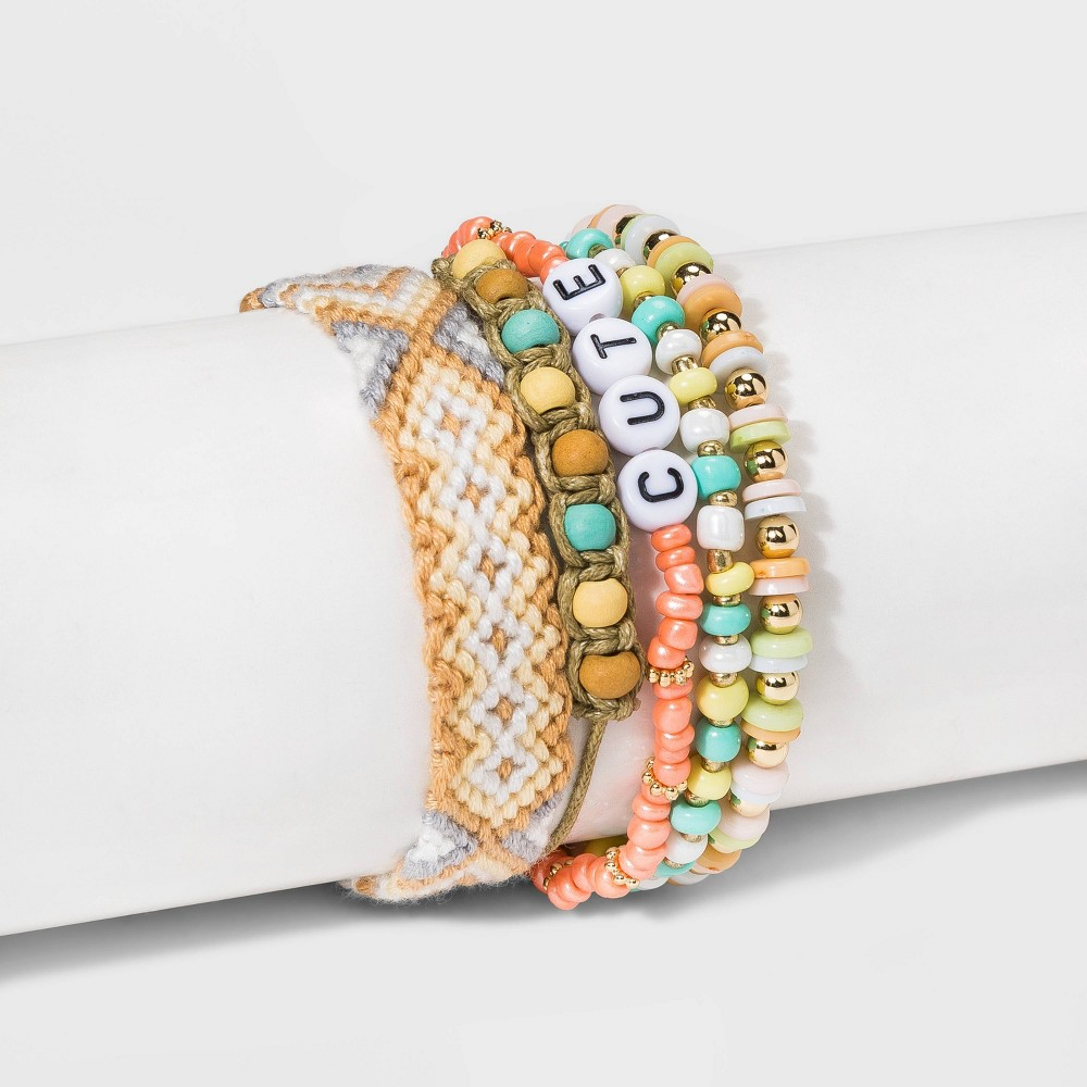 Image of Adjustable Stretch Bracelet Set - Wild Fable , Women's, MultiColored