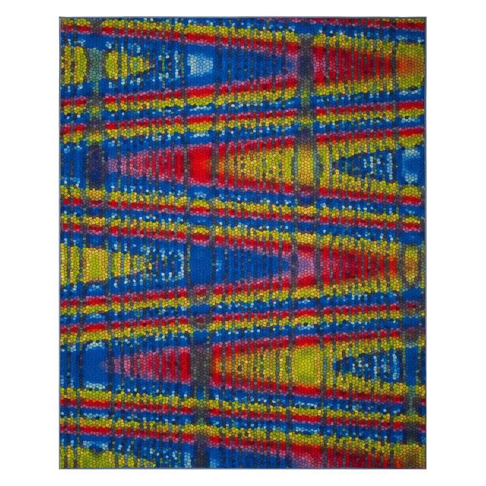 8'X10' Tribal Design Loomed Area Rug Blue - Safavieh, Multicolored