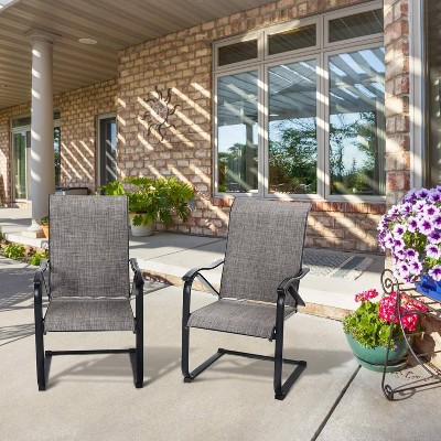 2pc Patio C-Spring Sling Chairs - Captiva Designs