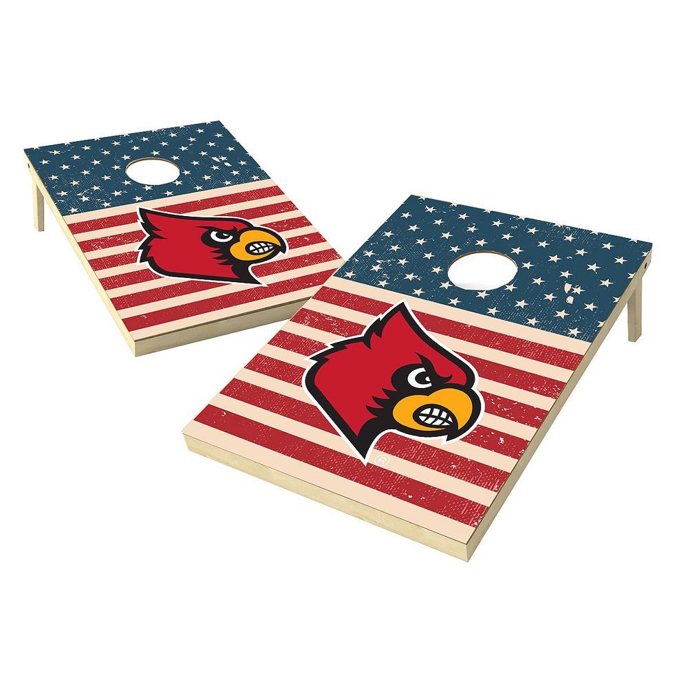 NCAA 2x3 Tailgate Toss Platinum College Louisville Cardinals Sas Worn Shadow Design