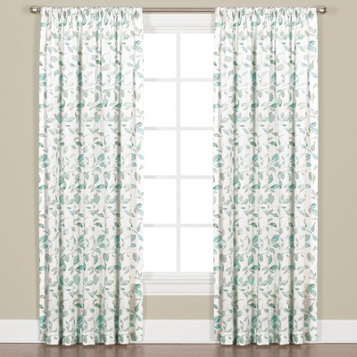"Saturday Knight Ltd Gentle Wind Collection High Quality Leaf Pattern Window Panel With 3"" Rod Pocket - Jade"