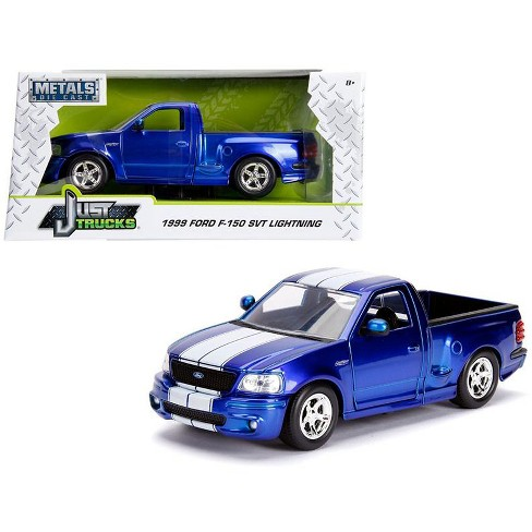 1999 Ford F 150 SVT Lightning Pickup Truck Candy Blue With White Stripes Just Trucks Series 1 24 Diecast Car By Jada Target