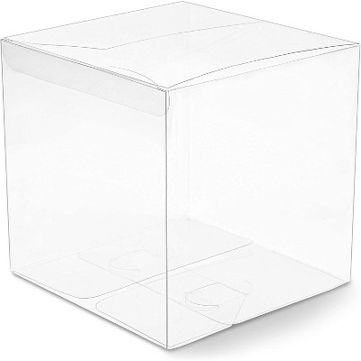 """30-Pack Clear Candy Treat Box, Transparent Cube Gift Boxes 6"""" for Wedding Party Favors Baby Shower"""