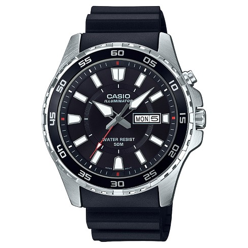 Men's Casio® MTD110-1AV Analog/Digital Watch - Black/Silver - image 1 of 1