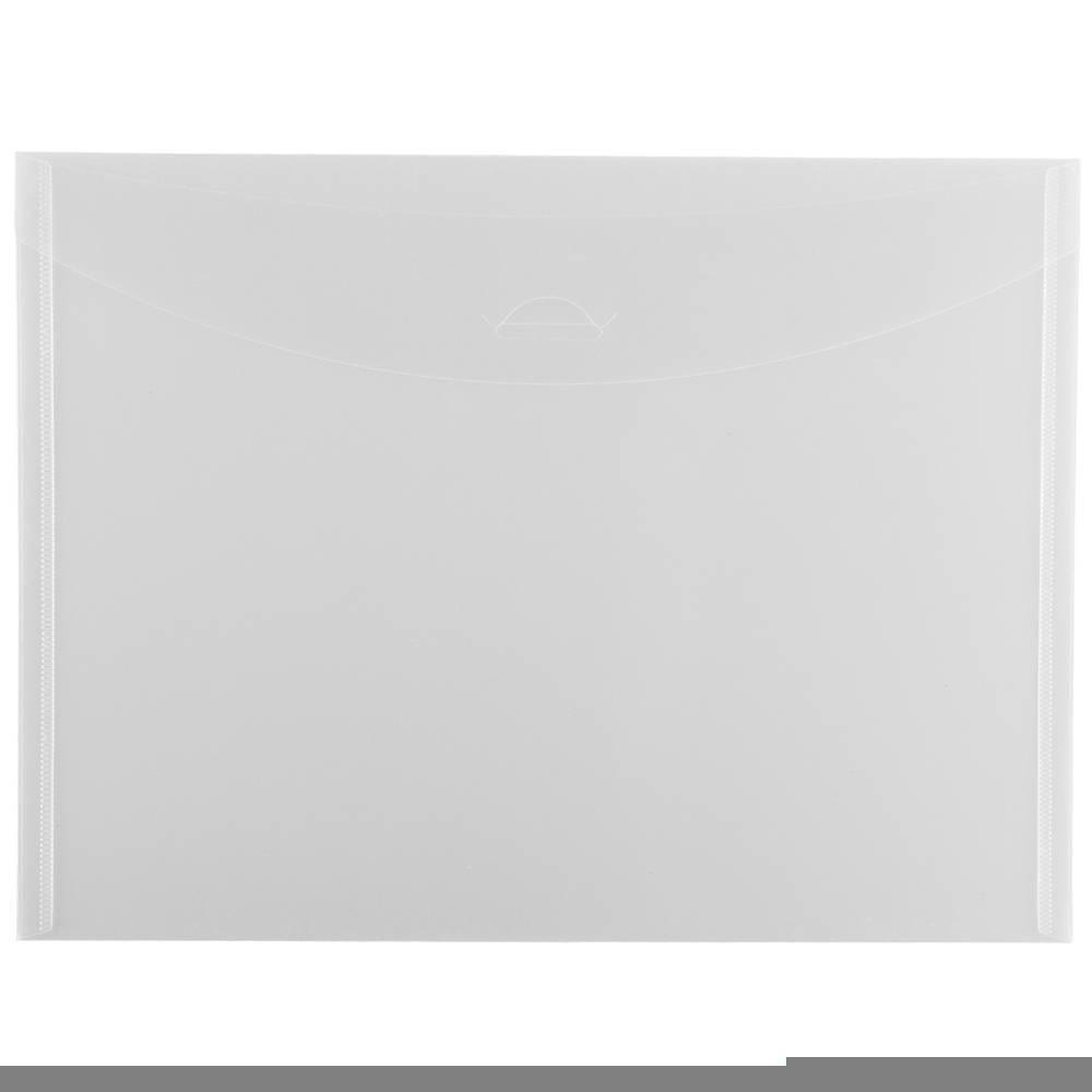 Jam Paper 8 7/8'' x 12'' 12pk Plastic Envelopes with Tuck Flap Closure, Letter Booklet - Clear Jam Paper 8 7/8'' x 12'' 12pk Plastic Envelopes with Tuck Flap Closure, Letter Booklet - Clear