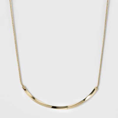 Women's Fashion Chain Necklace - A New Day™ Bright Gold