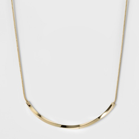 Women S Fashion Chain Necklace A New Day Bright Gold Target
