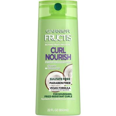 Garnier Fructis Curl Nourish Sulfate-Free Shampoo Infused with Coconut Oil & Glycerin -  22 fl oz