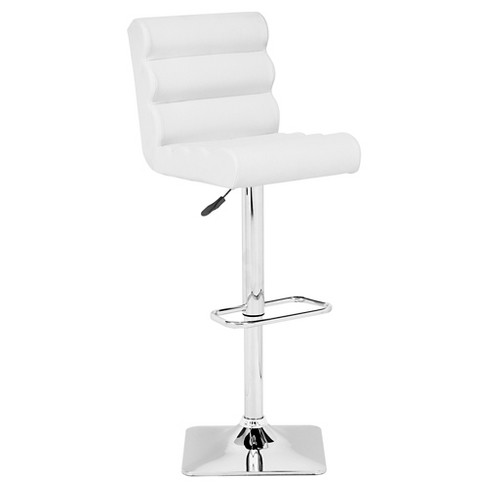 "Functional Modern Adjustable 28"" Barstool - White - ZM Home - image 1 of 3"
