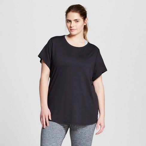 17247d134d861 Women s Plus-Size Soft Tech T-Shirt - C9 Champion® Black 4X   Target