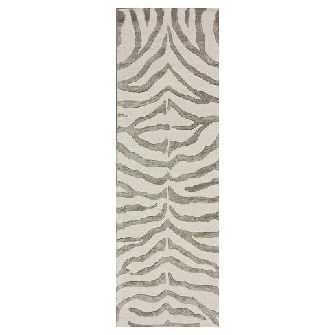 Hand Tufted Plush Zebra