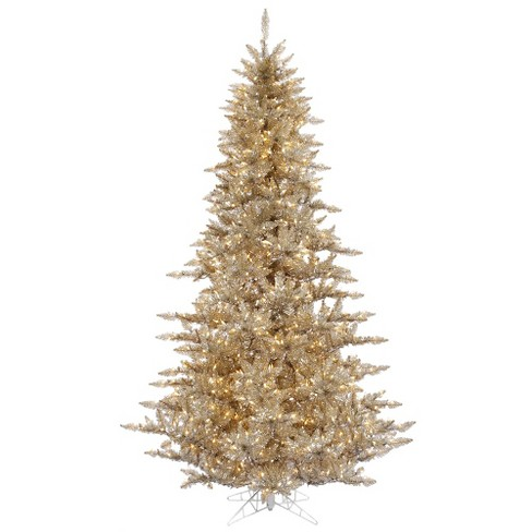 3ft Pre-Lit Champagne Artificial Christmas Tree with Warm White Dura-Lit Italian LED Lights - image 1 of 1