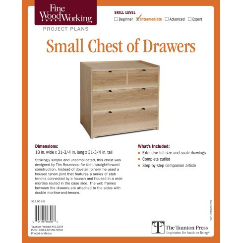 Fine Woodworking's Small Chest of Drawers : Skill Level Intermediate (Paperback) (Timothy Rousseau) - image 1 of 1