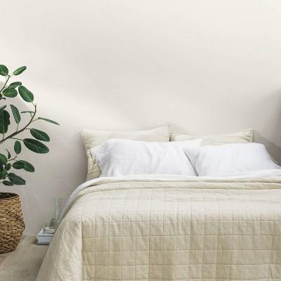King Heavyweight Linen Blend Quilt Natural - Casaluna™