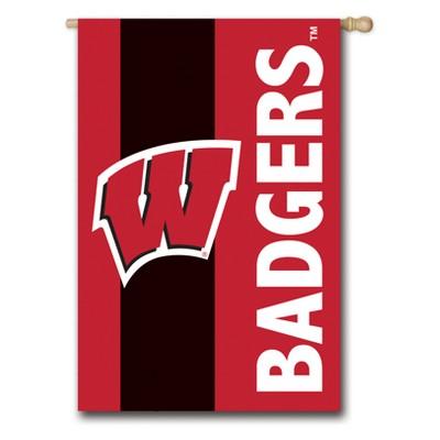 Wisconsin Badgers Embellished House Flag