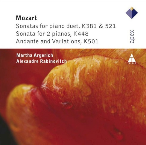 Martha argerich - Mozart:Sons for piano duet & 2 pianos (CD) - image 1 of 1