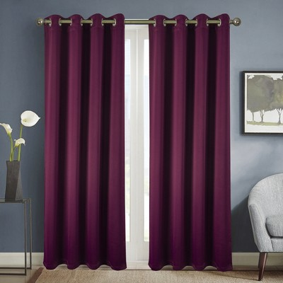 Ramallah Trading Anchorage Solid Blackout 54 x 84 in. Grommet Single Curtain Panel