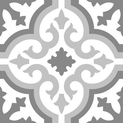 RoomMates Peel & Stick Floor Tiles Gray
