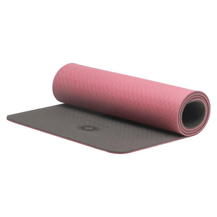 STOTT PILATES Eco-Deluxe Mat - Pink/Gray (10mm) - image 1 of 3