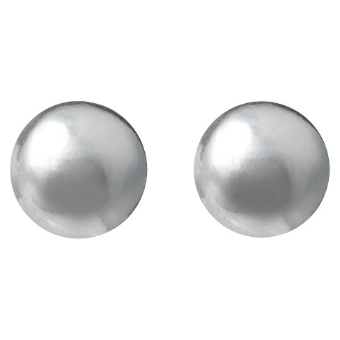 Women's Journee Collection Ball Stud Earrings in Sterling Silver - Silver (3MM) - image 1 of 2