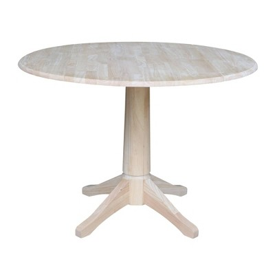 Jeremy Round Drop Leaf Table - Unfinished - International Concepts