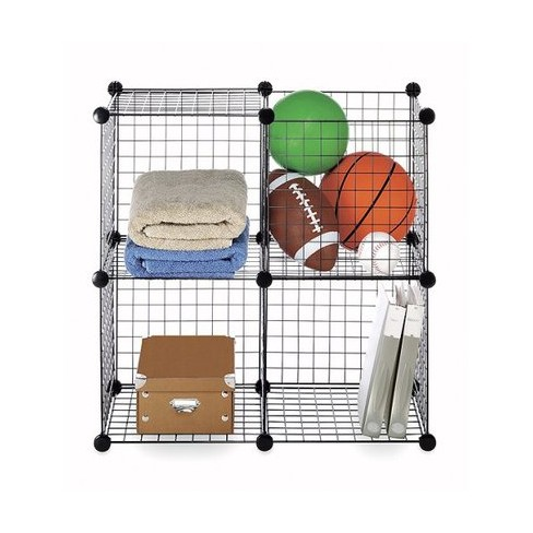 "Set of 4 Storage Cubes - Black (14"") - image 1 of 2"