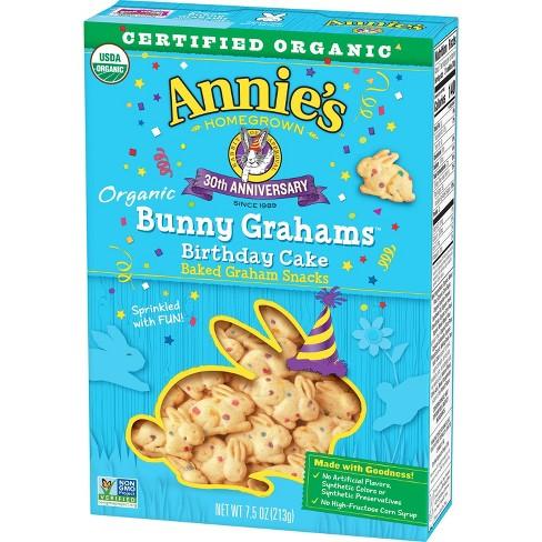 Annie's Organic Bunny Grahams Birthday Cake Baked Graham Snacks- 7.5oz - image 1 of 3