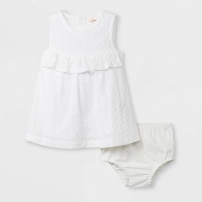 Little Girl White Eyelet Dress
