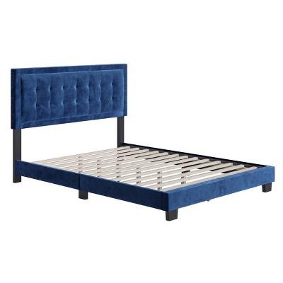 Tobias Velvet Button Tufted Upholstered Platform Bed Frame - Eco Dream