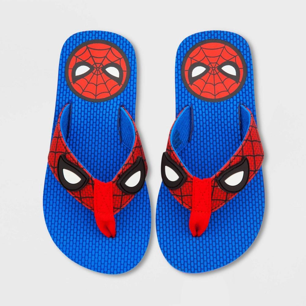 Image of Boys' Disney Spider-Man Flip Flop Sandals - Blue 2-3, Boy's
