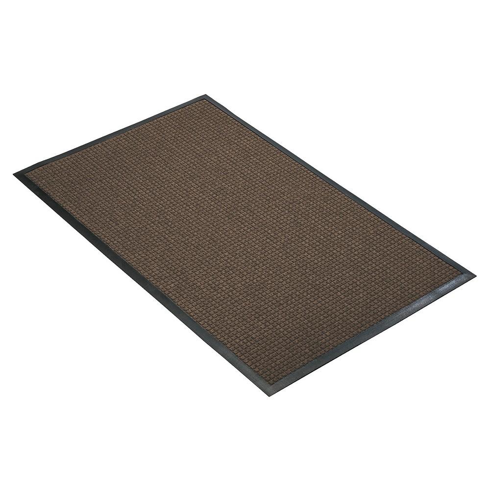 Brown Solid Doormat 3 X4 Hometrax