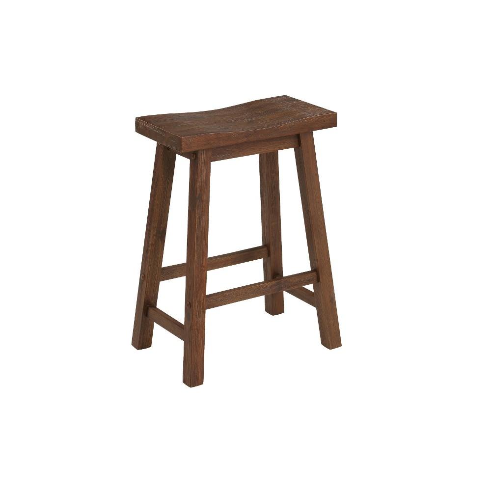 24 Sonoma Saddle Counter Height Barstool Chestnut - Boraam Reviews