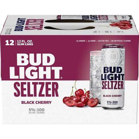 Bud Light Black Cherry Seltzer - 12pk/12 fl oz Slim Cans - image 1 of 4