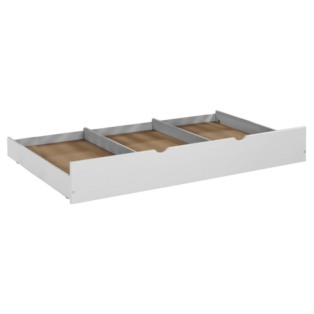 Solid Wood Twin Trundle Bed - Gray - Saracina Home, White