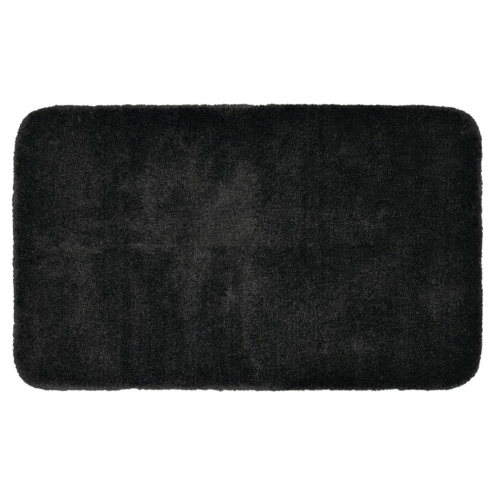 Garland Finest Luxury Ultra Plush Washable Nylon Bath Rug - Black (30