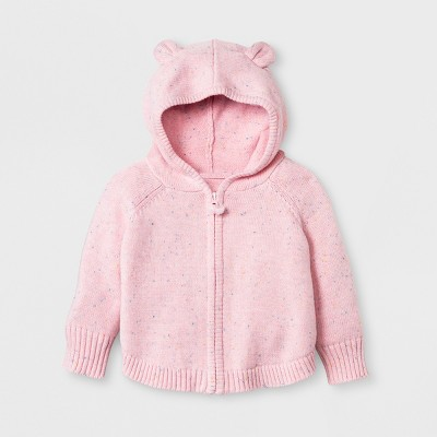 Baby Girls' Sweater Poncho - Cat & Jack™ Pink 0-3M