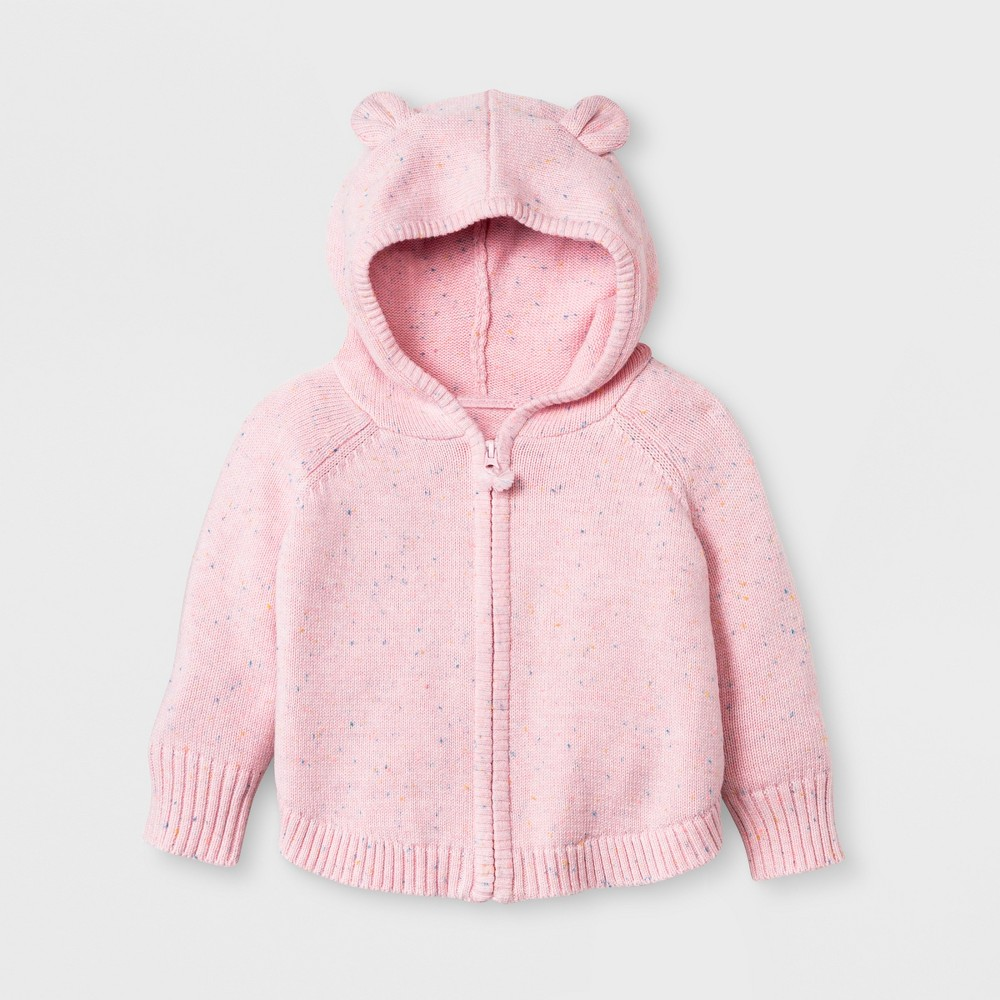 Baby Girls' Sweater Poncho - Cat & Jack Pink 0-3M, Woodrose