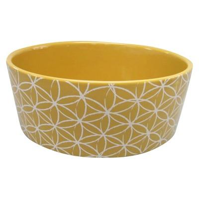 Ceramic Cat and Dog Bowl - Yellow - Large - Boots & Barkley™