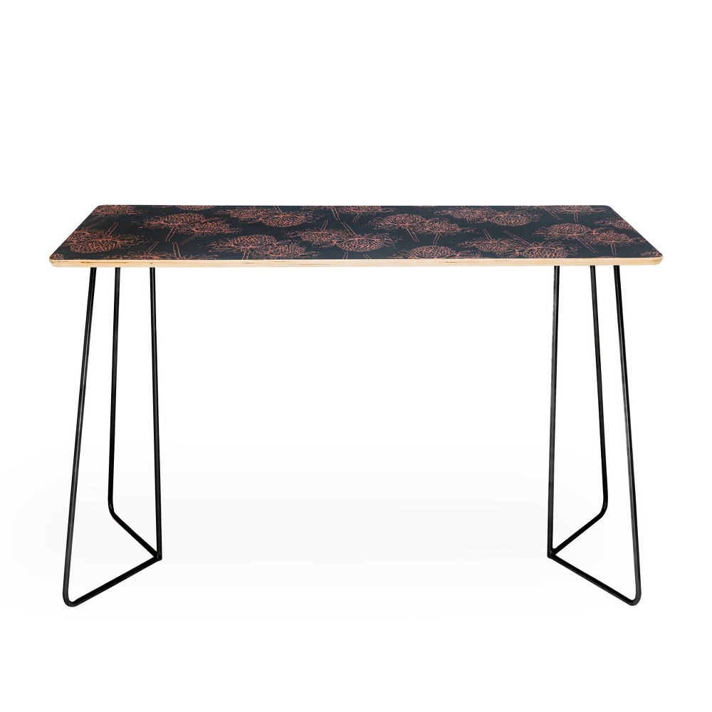 Rachael Taylor Tropical Shower Desk with Black Aston Legs - Deny Designs, Black Legs