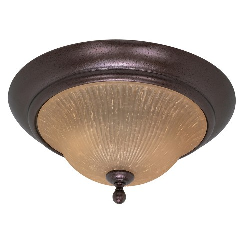 Aurora Lighting 2 Light Flush Mount Ceiling Lights Copper Bronze - image 1 of 1