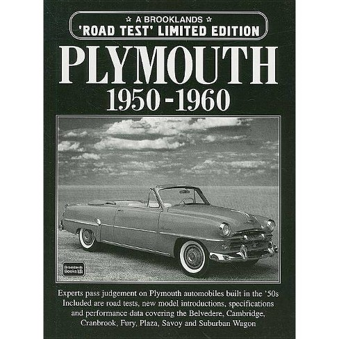 Plymouth 1950-1960 - (Brooklands Road Test Books) by R M Clarke (Paperback)