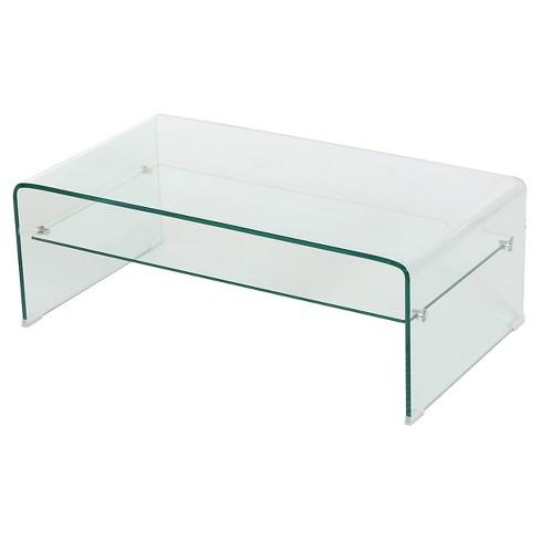 Glass Coffee Table With Shelf 4