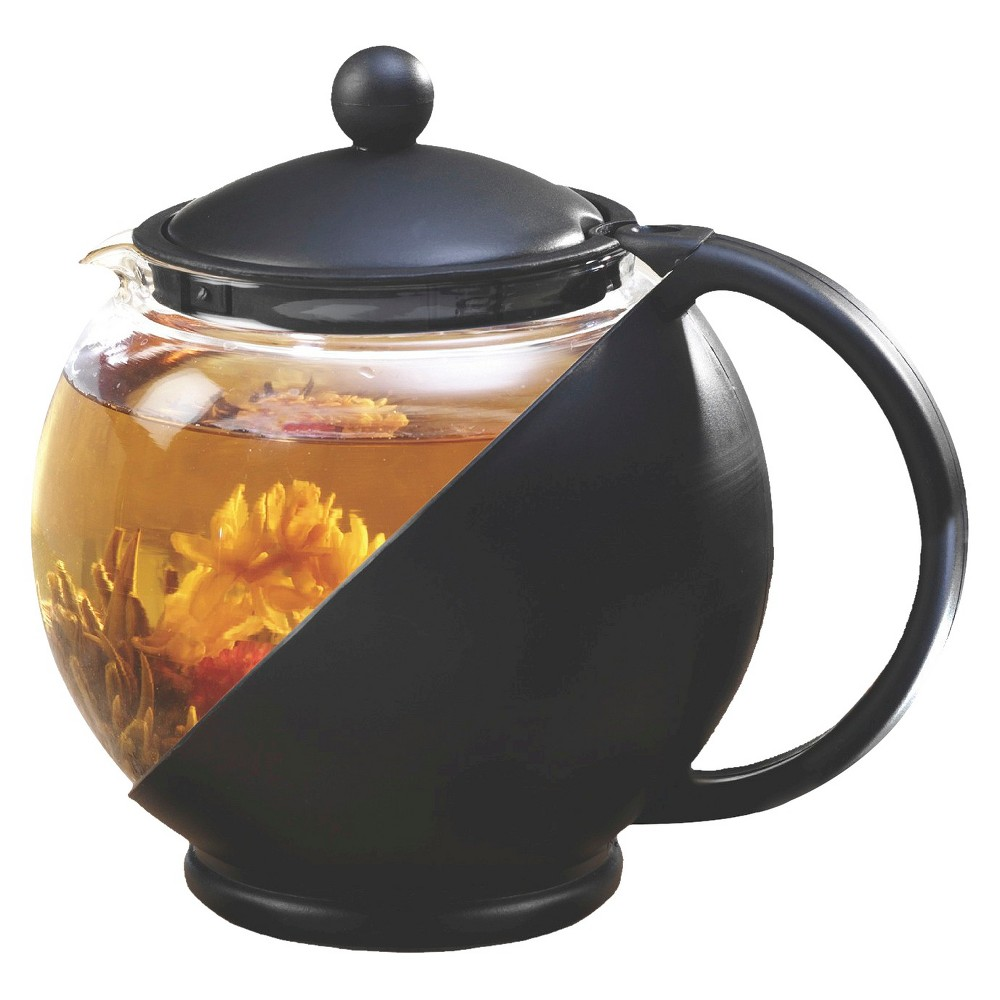 Image of Primula Half Moon Tea Pot Set - Black, Black Clear