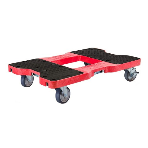 Snap Loc 1,200 lb Capacity General Purpose E Track Dolly Red, Heavy Duty 4 in Thermoplastic Swivel Non Marking Caster Wheels - image 1 of 4