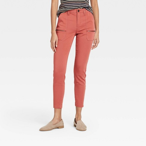 Women's Mid-Rise Utility Ankle Pants - Knox Rose™ - image 1 of 3