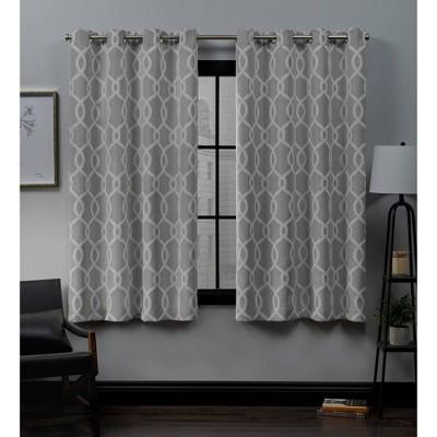 52 x63  Trilogi Grommet Top Blackout Window Curtain Panels Ash - Exclusive Home