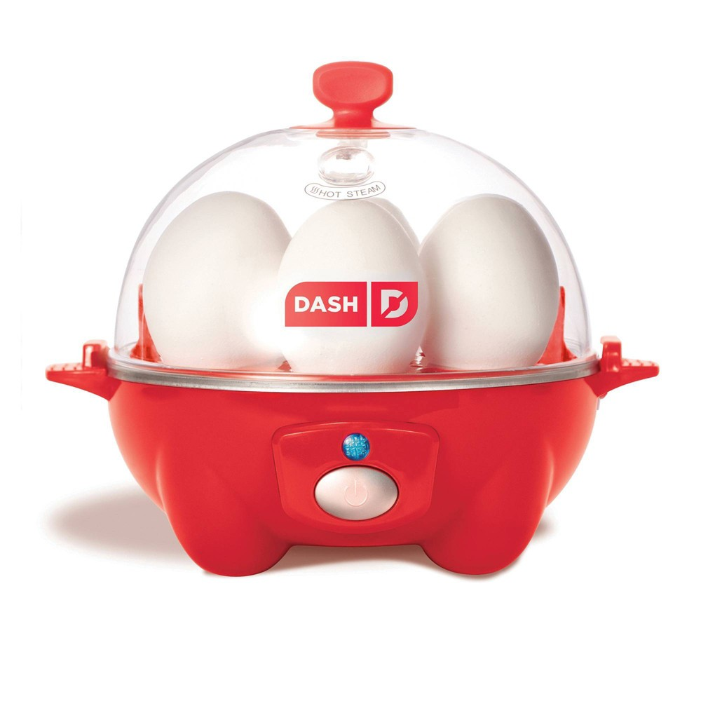 Image of Dash 7-Egg Electric Everyday Egg Cooker - Red