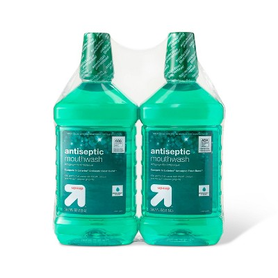 Antiseptic Green Mint Mouth Wash - 50.7 fl oz/2pk - up & up™