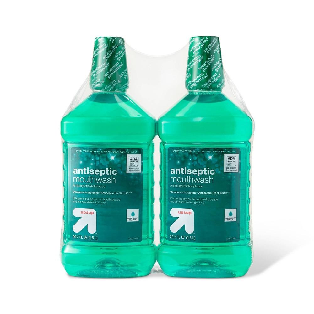 Image of Antiseptic Green Mint Mouth Wash - 50.7 fl oz/2pk - Up&Up