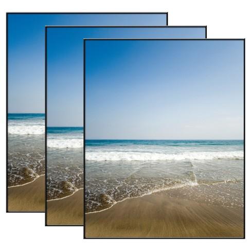 Set Of 3 8 X 10 Front Loading Frames Black Mcs